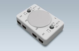 小型4チャネル生体アンプ BA1104
